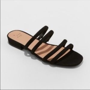 A New Day Black Sophia Strappy Sandals-6.5